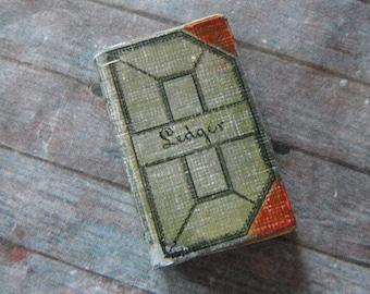 Miniature Antique Ledger