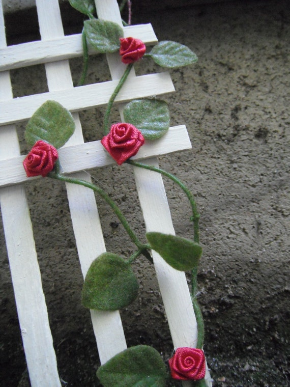 Miniature Red Rose Trellis