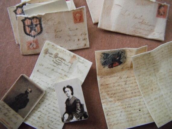 Miniature Civil War Love Letters