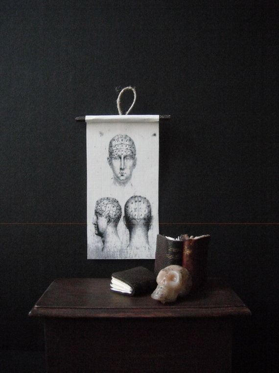 Miniature Natural History Chart---Phrenology