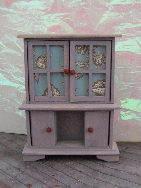 Miniature Crushed Lavender Cabinet