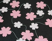 Cherry Blossom Paper Garland - Birthdays, Weddings, Baby Showers, Party Decorations