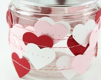 Sweetheart Paper Garland - Valentines Day - Weddings - Birthdays