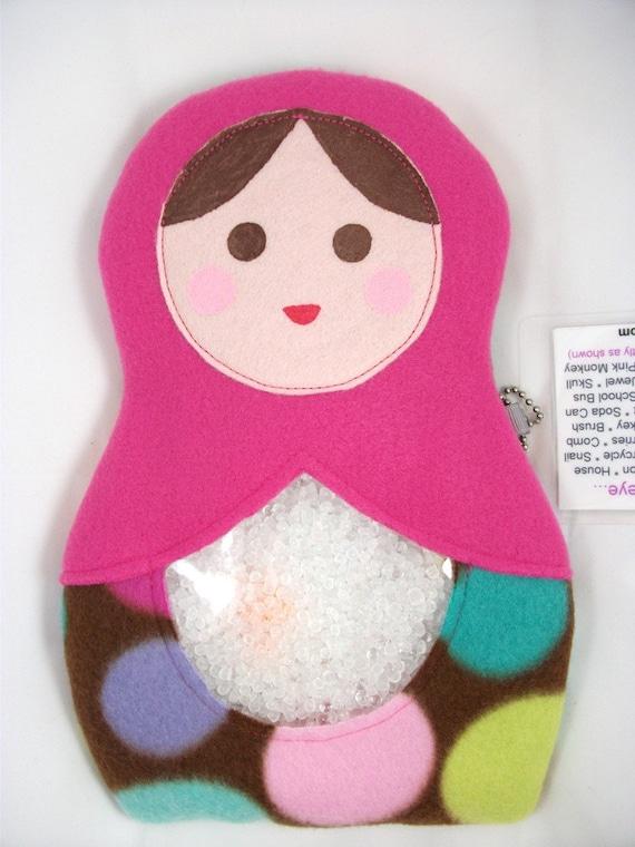 CLEARANCE SALE - My Sweet Babushka Doll Large I Spy Bag - Matryoshka