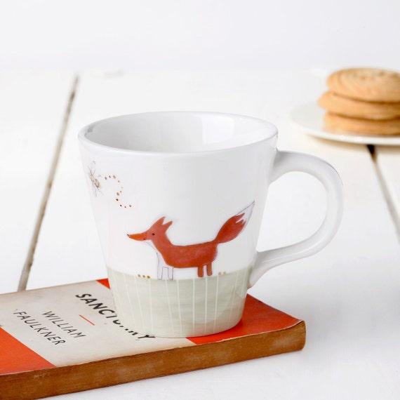 Fox & Rabbit Tapered Mug