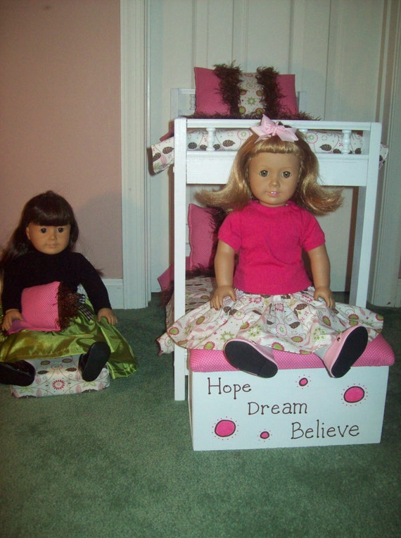 American girl doll pink and brown bedroom set with bunk bed - Entrancing pink and brown girl bedroom for your lovely daughters ...