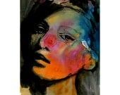 Girl Portrait Print Poster Art