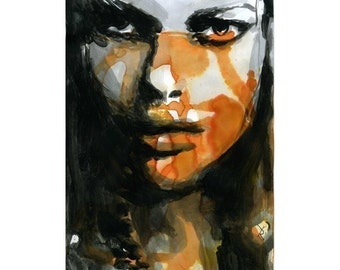 Print Poster Fashion Illustration Limited Edition