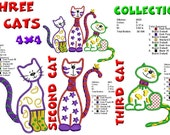 The Cats Embroidery Designs Collection 4x4