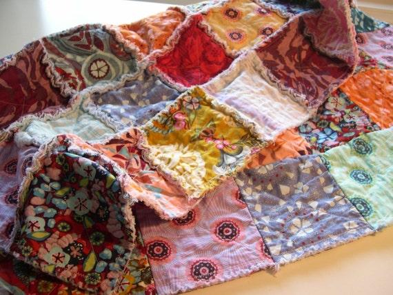 THE UNION - Modern rag quilt patchwork crib blanket