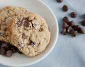 Oatmeal Chocolate Chip Cookies - 2 dozen homemade cookies