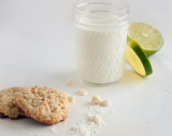 Coconut Lime White Chocolate Chip Cookies - 3 dozen homemade cookies