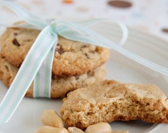 Peanut Butter Cookies with Peanut Butter and Chocolate Chips - 3 dozen homemade cookies