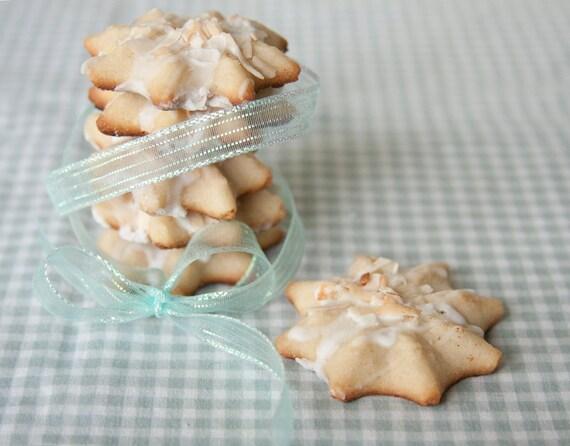 Coconut Rum Butter Cookies - 3 dozen homemade cookies