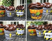 Printable CONSTRUCTION themed cupcake wrappers