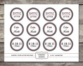 Printable 2 IN ROUND modern cupcake toppers personalized for birthdays, showers, parties
