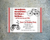 PRINTABLE Ride On Toy Vehicle birthday party invitation