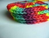 Round Rainbow Washcloth or Coaster