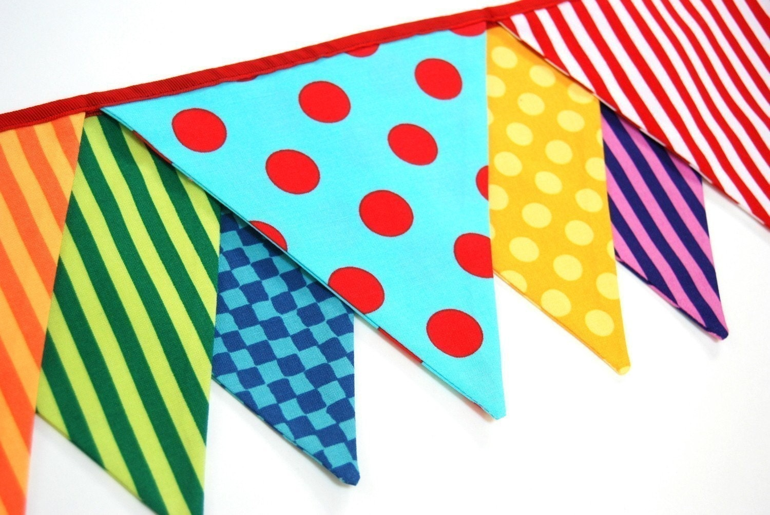 Custom for julie set of 4 carnival birthday by bluemoonstudios - Banderines decorativos de tela ...