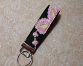 Midnight Blooms Fabric Key Fob