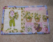 """Tulips are blooming in the Garden """"Mug Rug"""""""