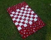 University of Alabama Checker Board Table Runner