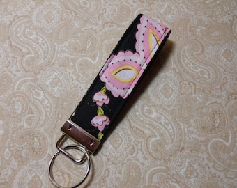 Midnight Blooms Fabric Key Fob