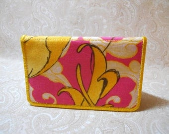 Pink Spashed with Yellow Business Card Case