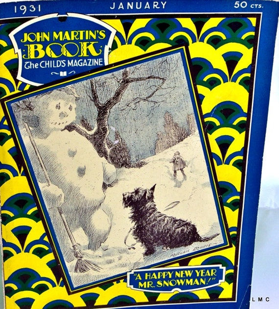 JOHN MARTINS Book/The Childs Magazine - January 1931 - VG