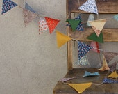LAST ONE Mixed Retro Pennant Banner Bunting