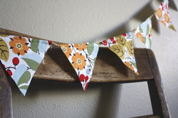 ON SALE Berry Bold Pennant Banner Bunting
