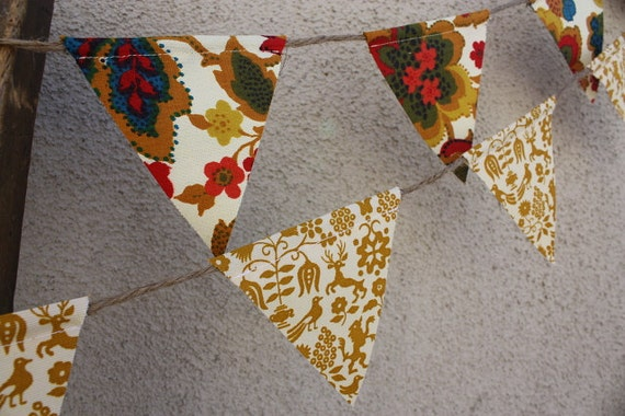 Goldenrod Yellow Folk Pennant Banner Bunting
