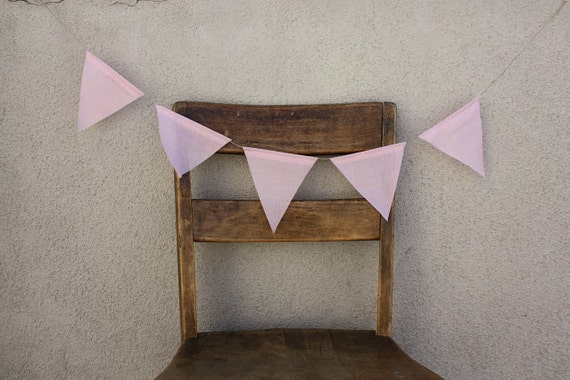 LAST ONE Pink Pastel Pennant Banner Bunting