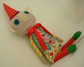Lyle the Funky Holiday Helper Elf Wool Cloth Doll