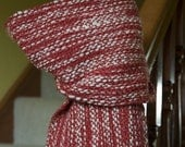 Strawberries and Cream Handwoven Scarf