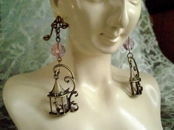 Elegant Birdcage Earrings