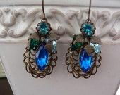 LaSt OnE  OCEAN HUES VICTORIAN dangle earrings