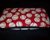 baseball travel wipes case