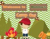 Ultimate Camp Out Party Package PRINTABLE DIY Customizable