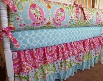 Custom Crib Bedding Set - Kumari Garden