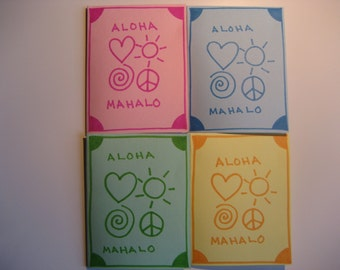 4 handmade hawaii cards