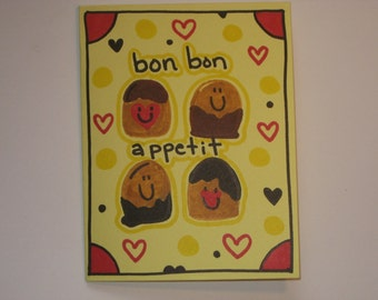 1 handmade valentine card
