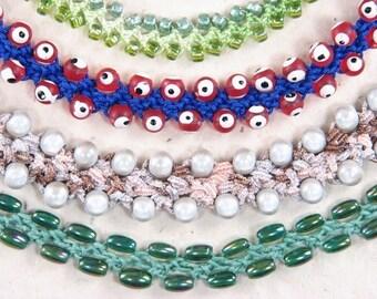 TUTORIAL: My Fun, Turkish Flat Bead Crochet Bracelet