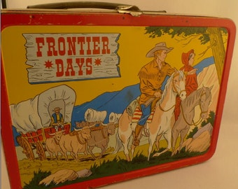 1957 Frontier Days Metal Lunch Box