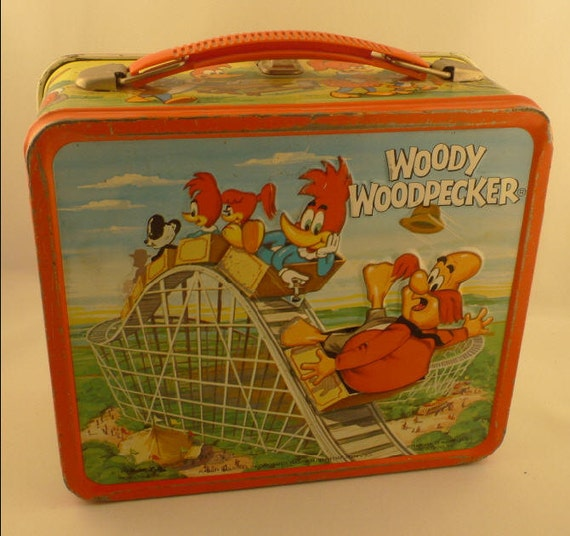 Woody Woodpecker 1972 Metal Lunch Box With Thermos
