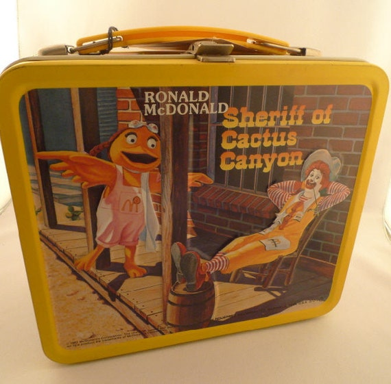 1982 McDonald's  Metal Lunch Box & Thermos