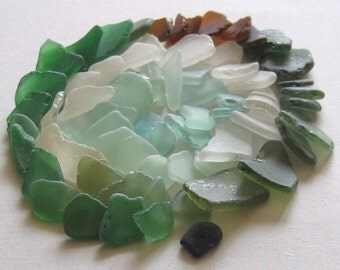 67 Natural Sea Glass Shards Mosaic and Craft Supplies (911)