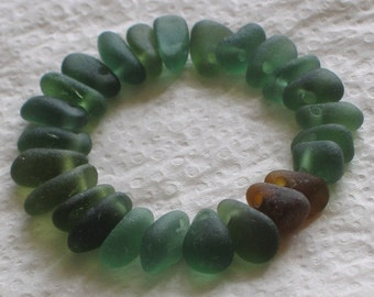 25 Natural Sea Glass Extra Small Beads Top Drilled 1.5mm holes Supplies (1198)