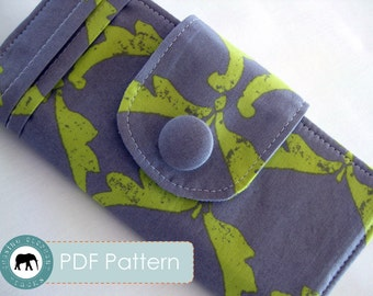Penelope Wallet Checkbook Sewing Pattern PDF (Instant Download)