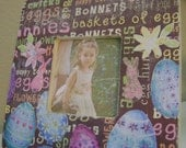 Easter Eggs, Bunny, Flowers Picture Frame